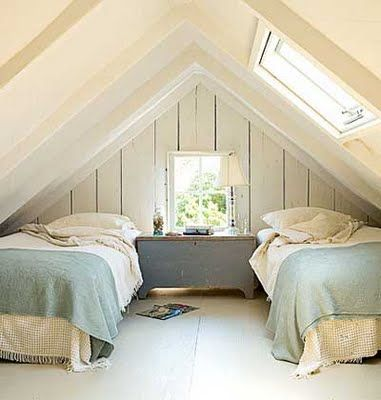 Attic room - if I had the money this is what I would do to my attic...
