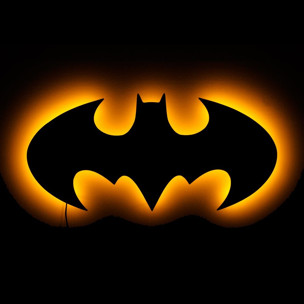 Lighted Pictures Wall Decor lighted batman logo wall art - lighted wall art and symbolic night
