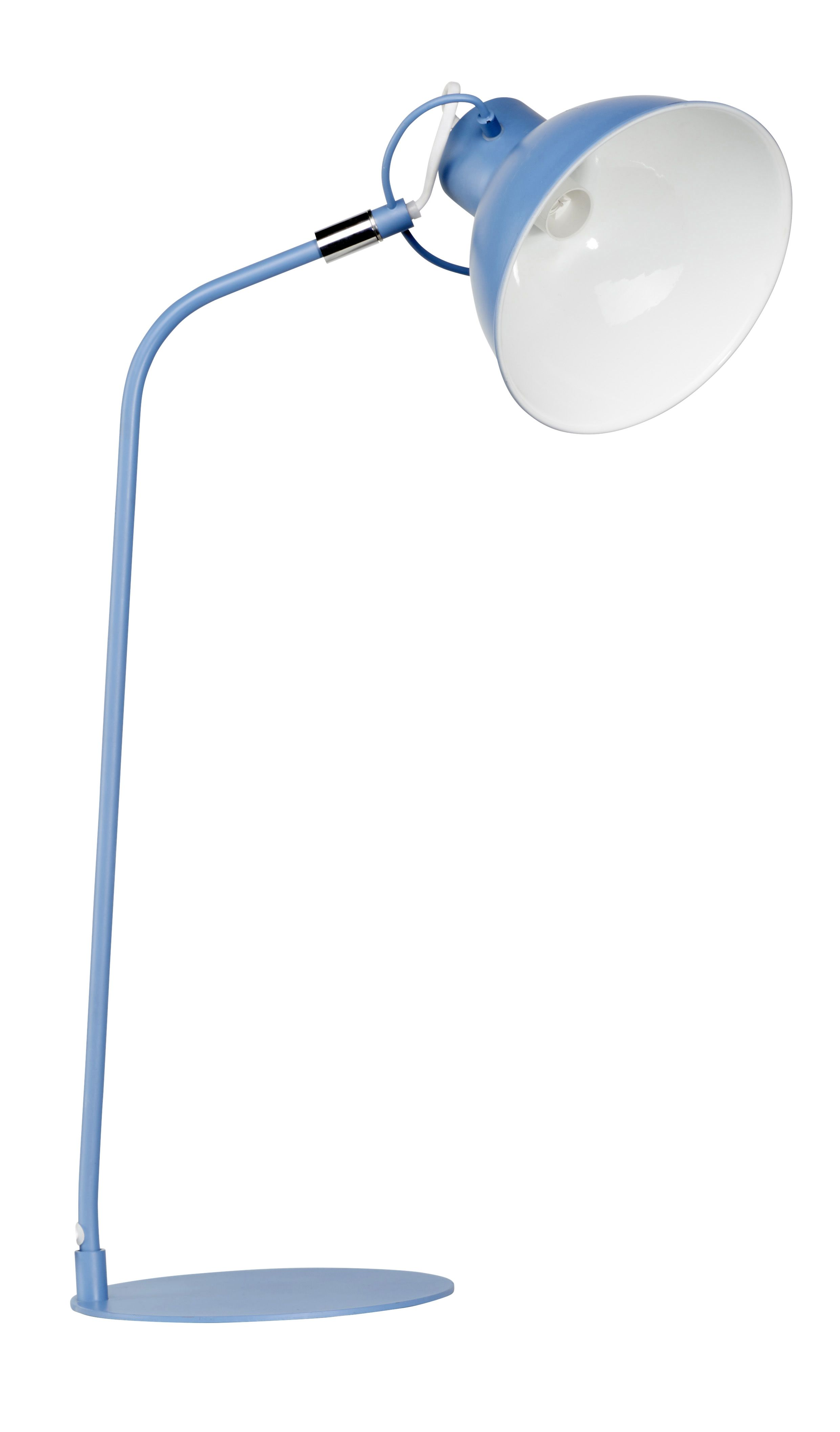 lampe de bureau bleue en metal - carrefour home | decoration