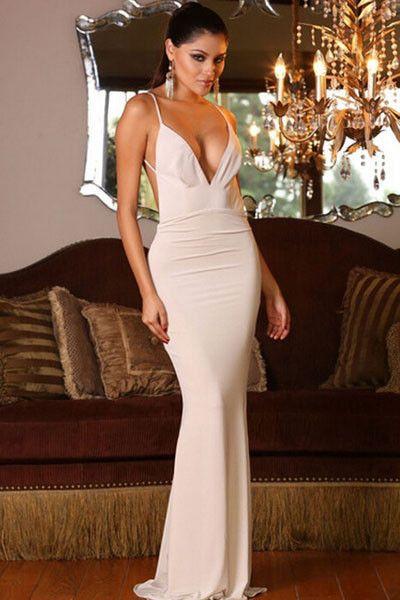 V Backless Dresses