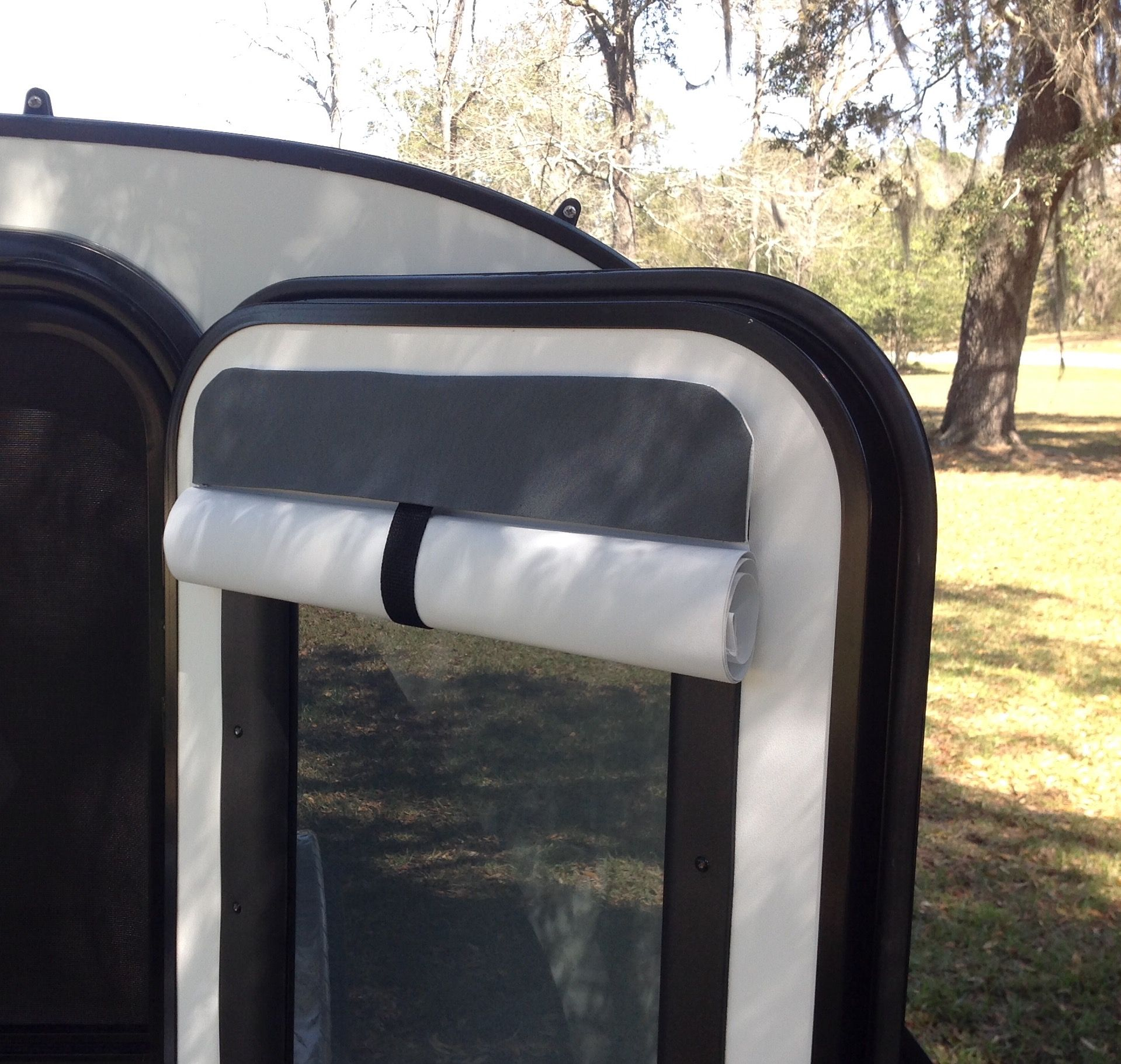 Economical insulating camper door shade click to see