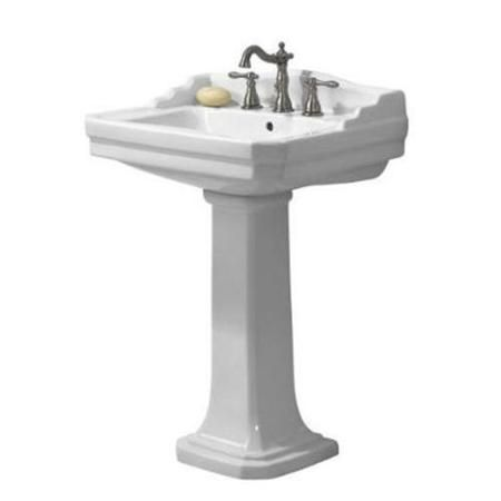 Foremost Group Fl 1920 4w Series Pedestal Combo Bathroom Sink In White
