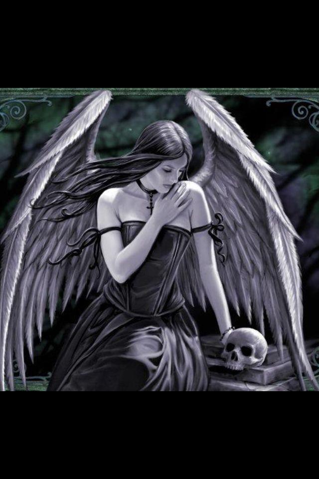 Pin By Nadia Meadows On Fantasy Art Dark Angel Angel Wallpaper Iphone Wallpaper Photography Anime dark angel iphone wallpaper