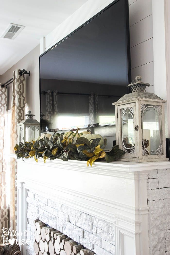 Mantel Decor To Hide Wires