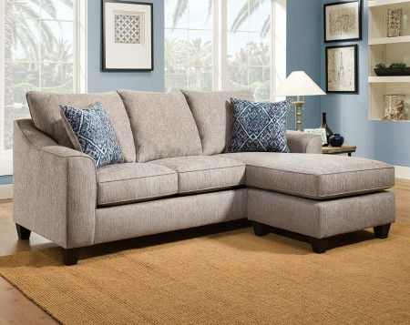 Natural Sofa With Blue Pillows | Uptown Mineral 2 PC. Sectional Sofa | American  Freight