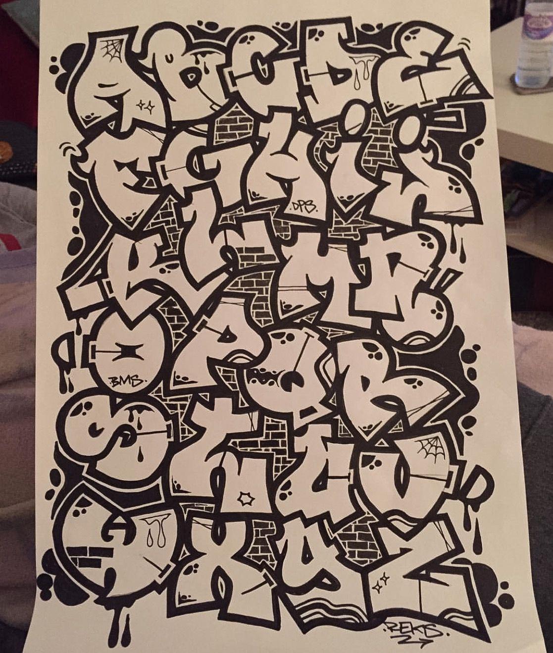 Tattoo tattoo pinterest tattoo graffiti and graffiti alphabet - Grafiti alpabet ...