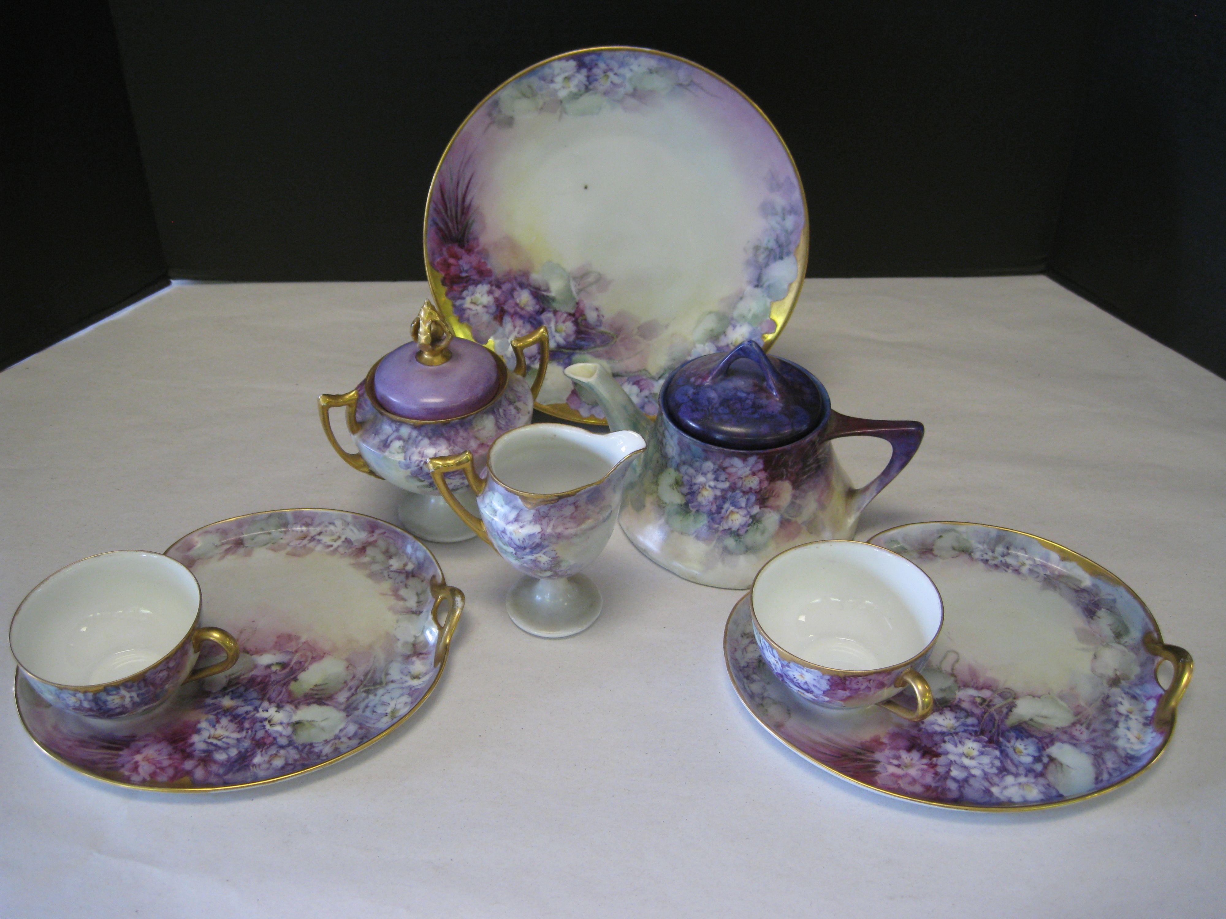 Antique Bavarian Porcelain Tea