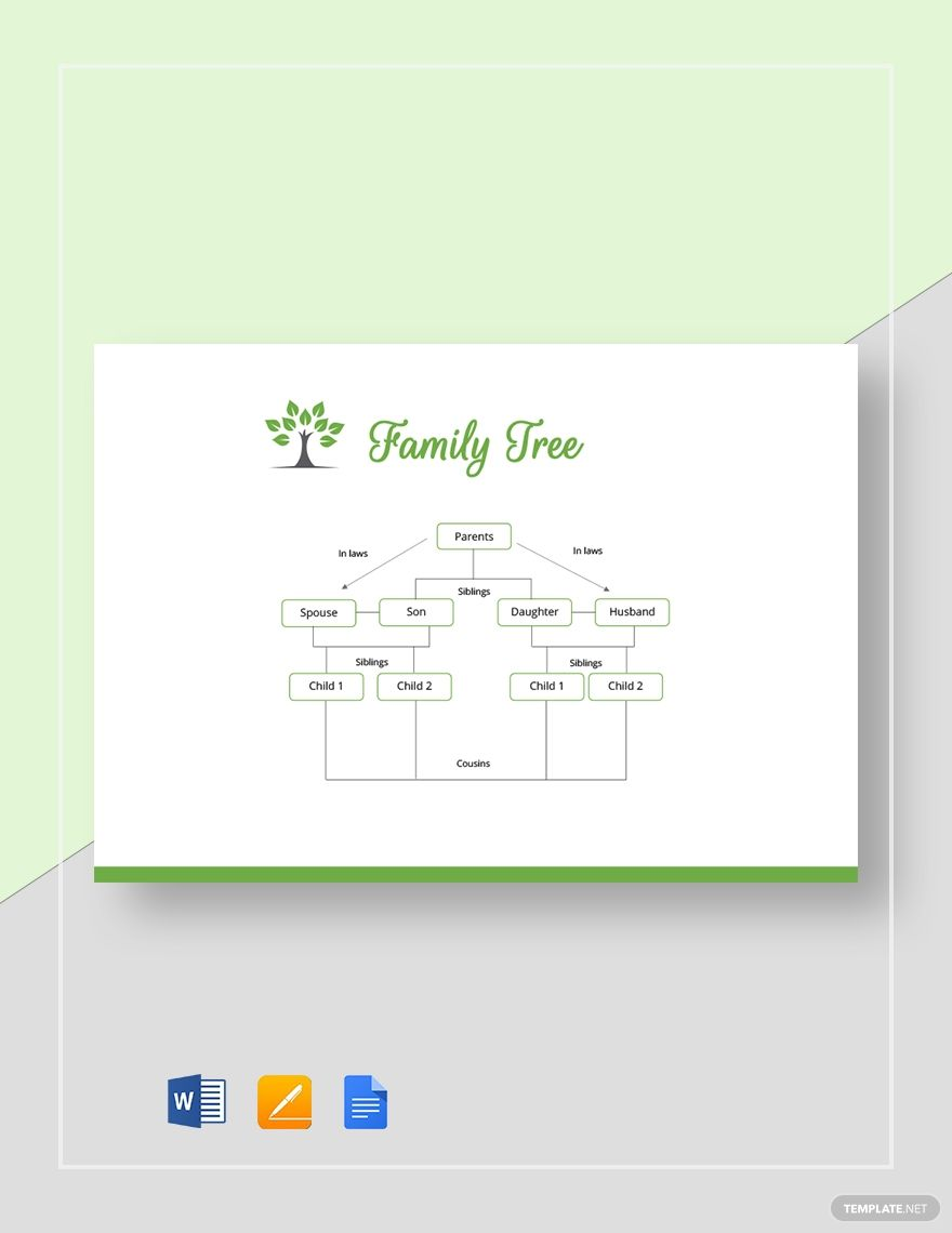 Basic Family Tree Template Word Doc Apple Mac Pages Google Docs Genealogia Family tree template for mac
