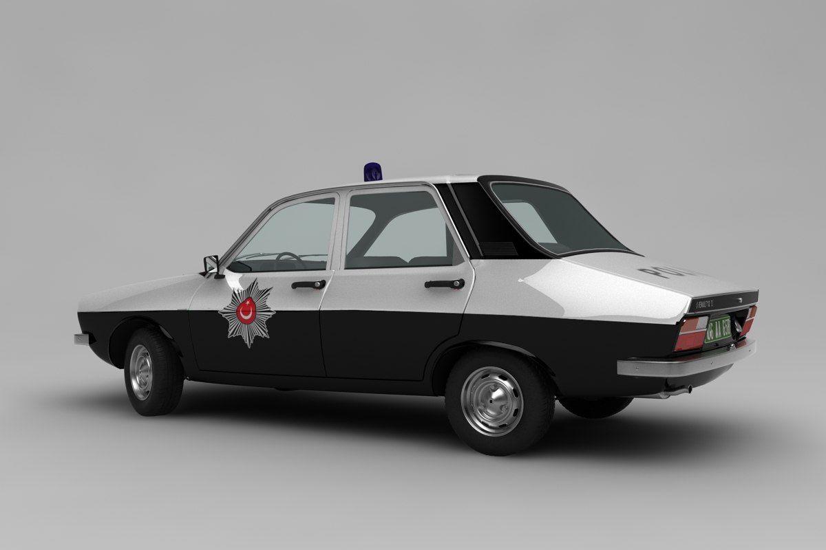 3d Renault 12 Ts Model Renault Car Model Police Cars