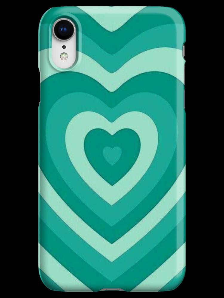 Teal Green Hearts Powerpuff Girls Y2k Phone Case Iphone Xr Snap By Aeskayla In 2021 Teal Phone Case Green Phone Case Phone Cases