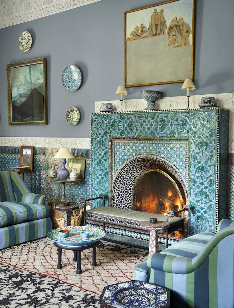 Marrakech Decoration D Interieur yves saint laurent's private moroccan villa | déco maison