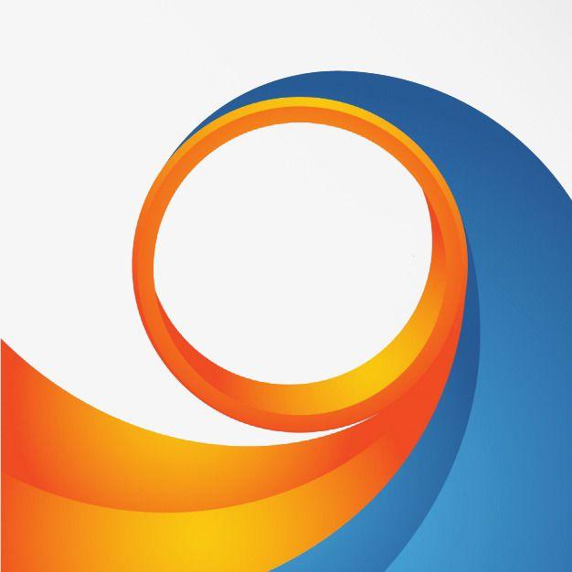 الدوامة الخلفية أزرق البرتقال فايرفوكس اللون Png وملف Psd للتحميل مجانا Vodafone Logo Company Logo Swirl