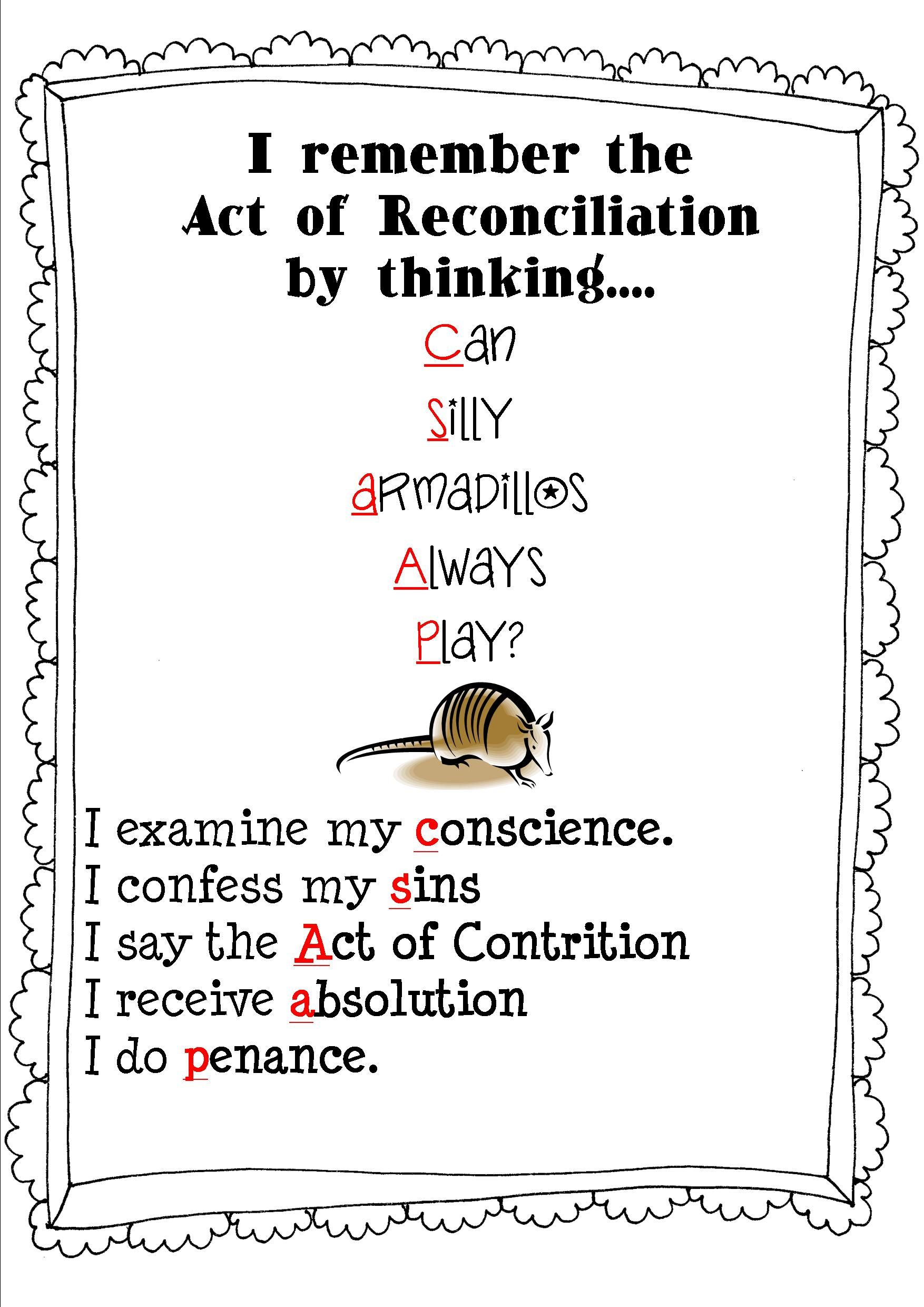 Reconciliation Rhyme For More Fun Activities Click The Link Below
