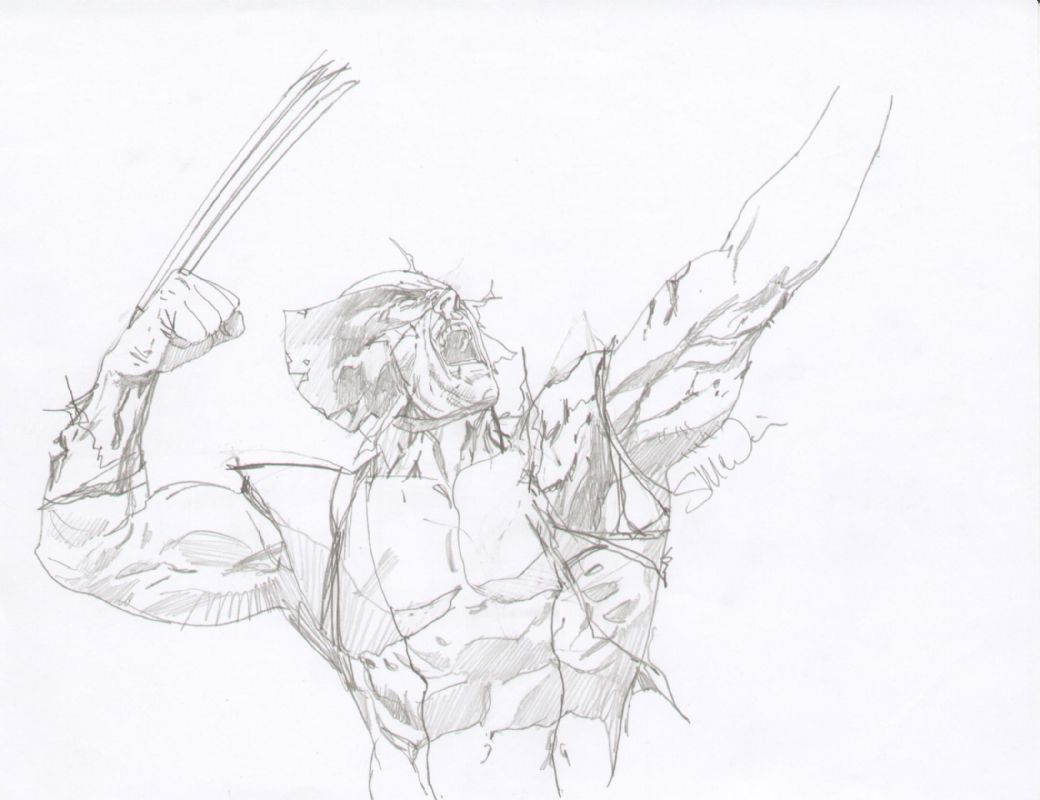 Wolverine By Steve Mcniven Old Man Logan Prelim Comic Art
