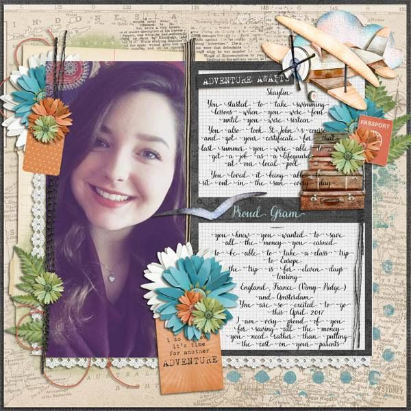 kimeric kreations: We Love to Travel - new this week, an awesome cluster from Jenni, and the February template tonight!