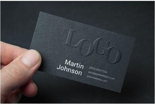 Embossed Business Card MockUp #2