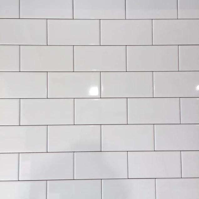 Mini Metro White Flat Gloss Brick Tile 7 5x15cm Ceramic Planet Brick Tiles Ceramic Wall Tiles Tiles London