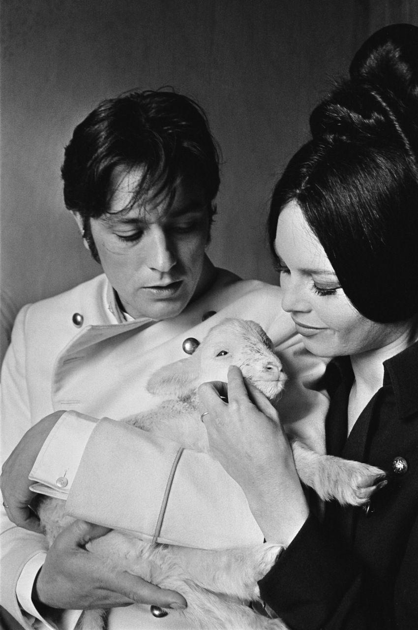 Alain Delon And Brigitte Bardot On The Set Of Histoires