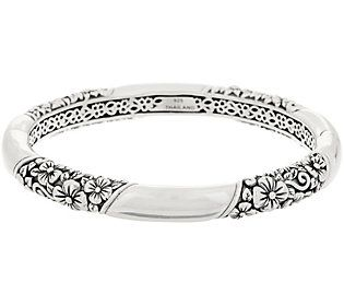 40278976d65 JAI Sterling Silver Carved Hinged Bangle, 36.4g in 2019 | Products ...