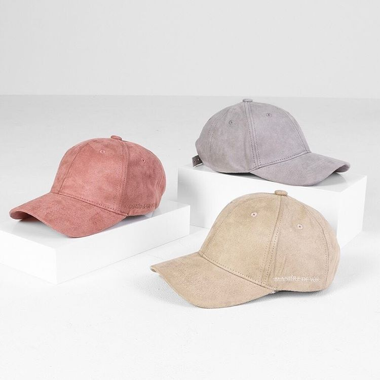 Spring Suede | Designed to the highest quality the Unisex Suede Caps are the perfect accessory. #manieredevoir