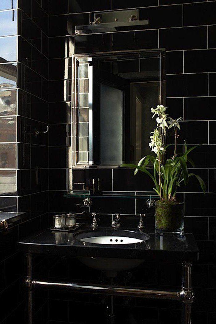 La beauté de la salle de bain noire en 44 images! | Castorama ...