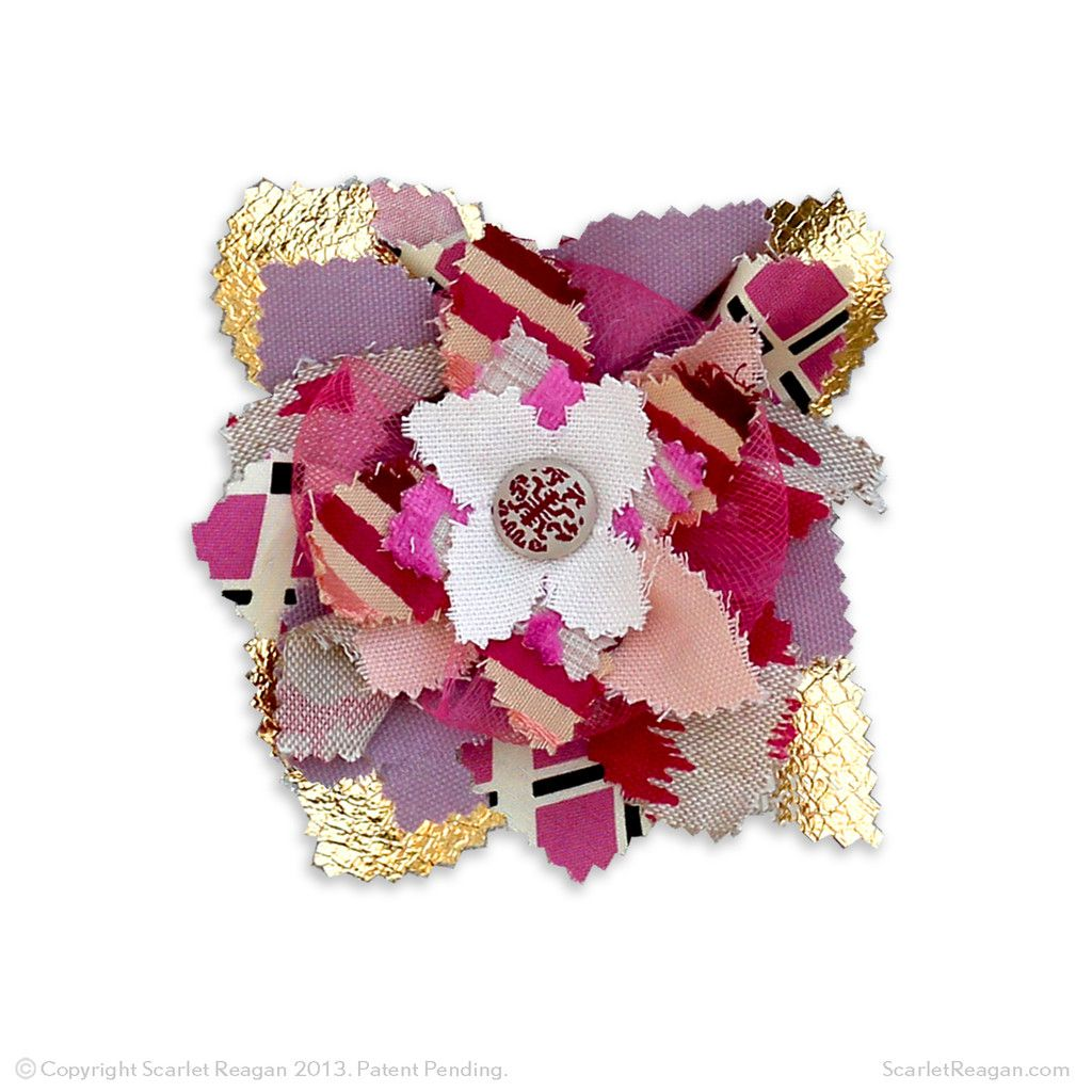 """These 5"""" fabric flower magnets have special mesh that holds stud earrings. Never lose an earring again. Kara Collection  