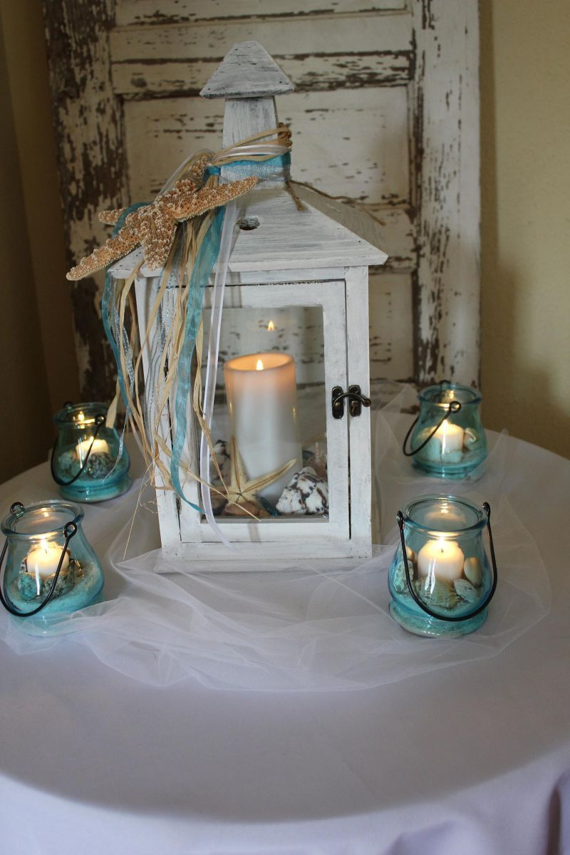 Unique Beach Wedding Ideas Beach Reception Centerpieces Wedding