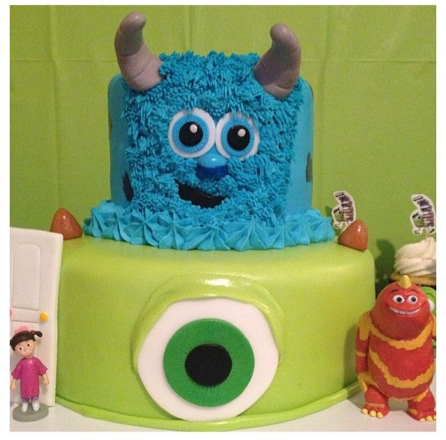 Monsters Inc CakeSulley Mike Monsters Inc Pinterest