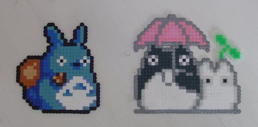 Hama Beads - Totoro by acidezabs.deviantart.com on @DeviantArt