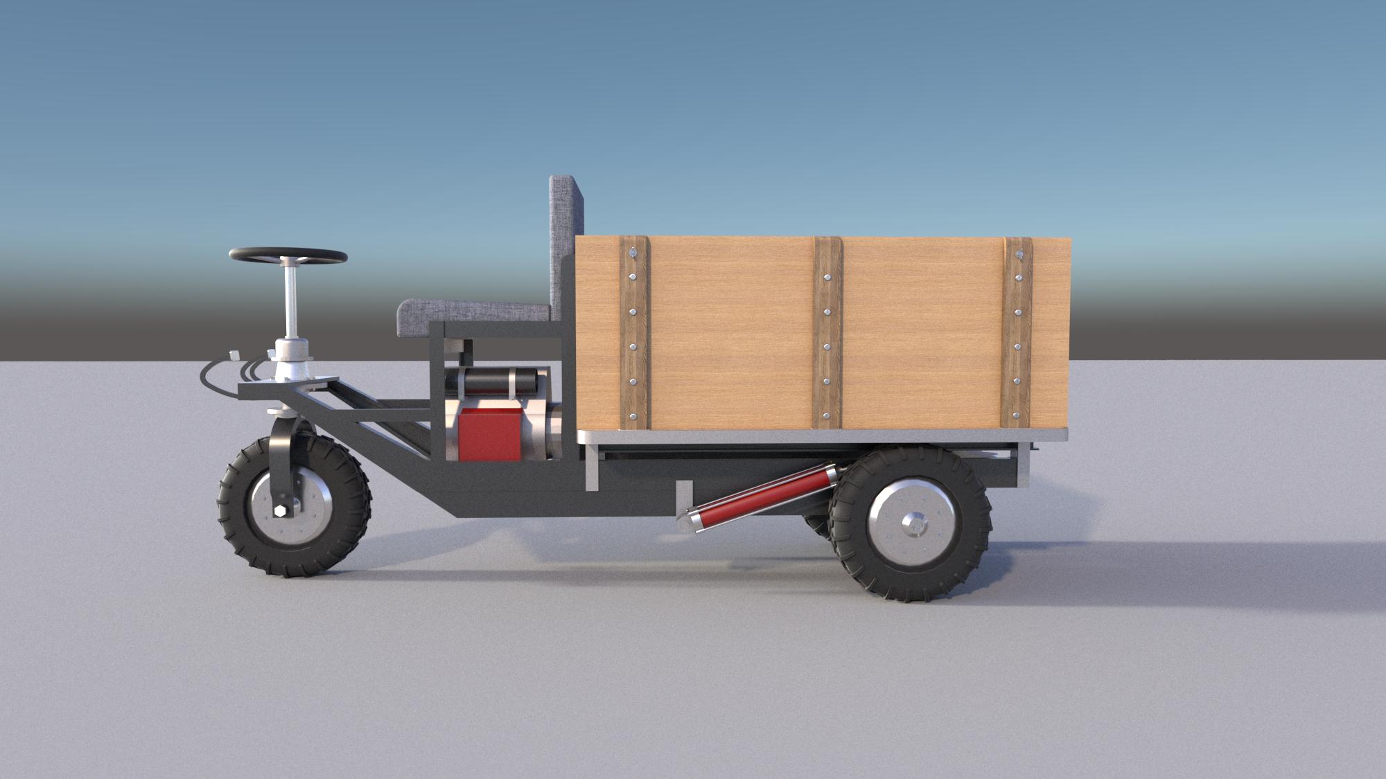 Mini Dump Truck Plans DIY Homemade Garden Tractor Small