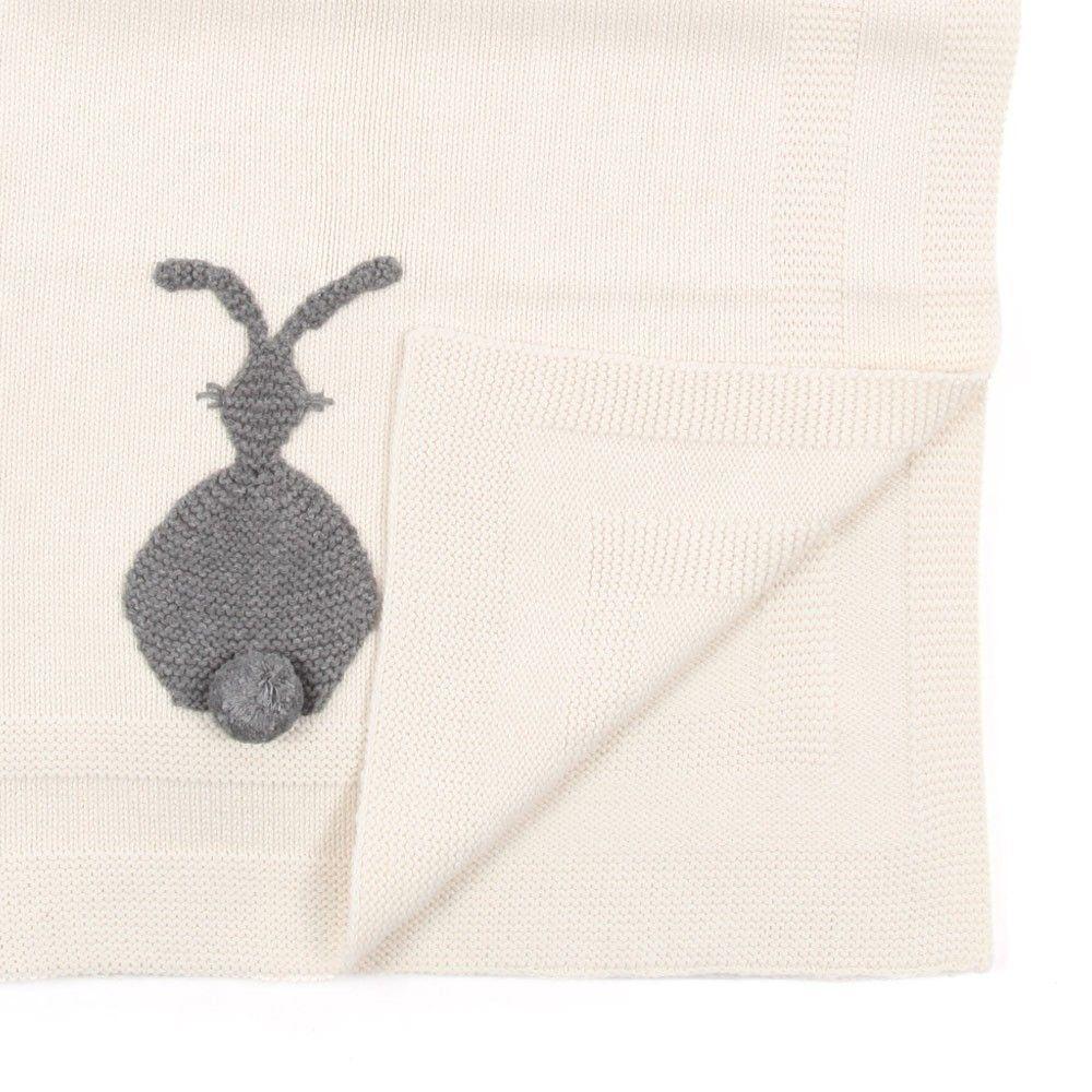 Stella Mccartney Baby Blanket With Grey Bunny Modern