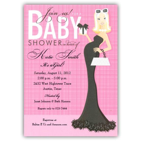 Blonde glam mom girl baby shower invitations paperstyle throwing blonde glam mom girl baby shower invitations paperstyle filmwisefo Images