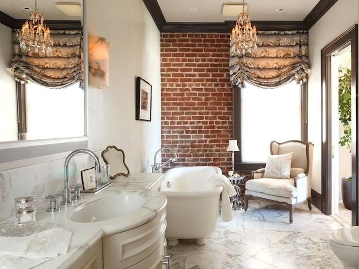 Brick Bathroom Floor Pricey Pads French Bathroom With Exposed