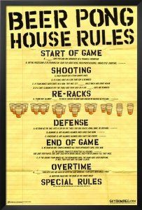 Framed Beer Pong House Rules It Is Serious Business