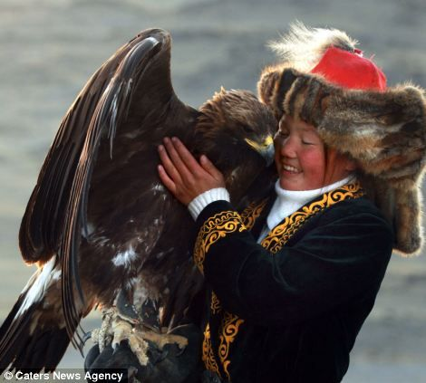 Ashol Pan.  13 year old Ashol Pan is one of the estimated last 250 Mongolian eagle hunters left in the world. And one of the very few women that are granted the privilege to be trained in this ancient, traditional hunting method. Golden eagles are used mainly to hunt foxes during the winter months.