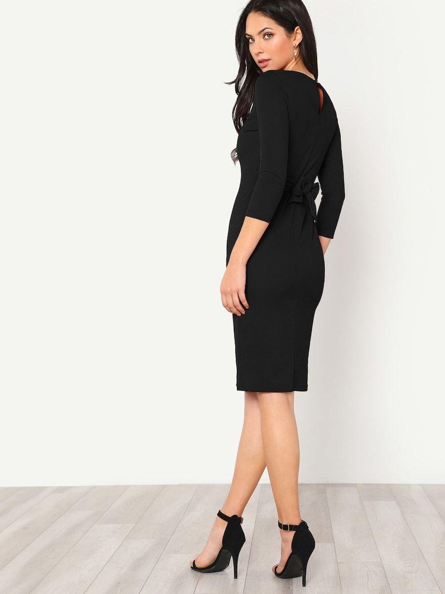 Zarif Sade Siyah Elbise Siyah Elbise Elbise Kadin