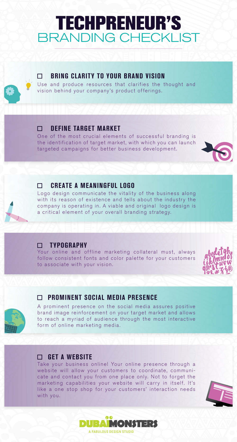 Techpreneur's Branding Checklist #Infographic