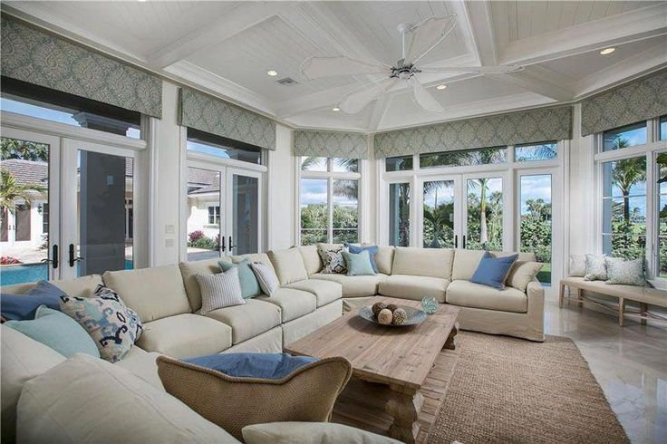 Enjoyable Bright Living Room With Cottage Style And Large Sectional Gmtry Best Dining Table And Chair Ideas Images Gmtryco