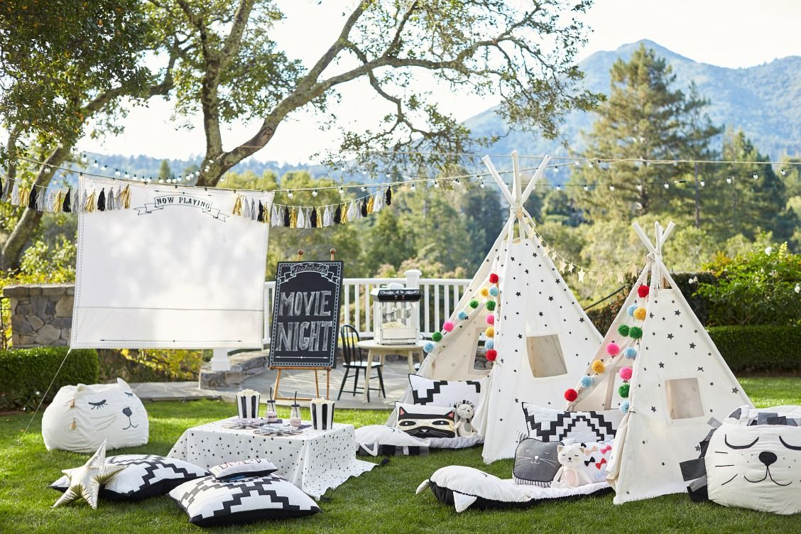 Summer Outdoor Party Theme Summer Outdoor Party Outdoors Birthday Party Backyard Movie Nights