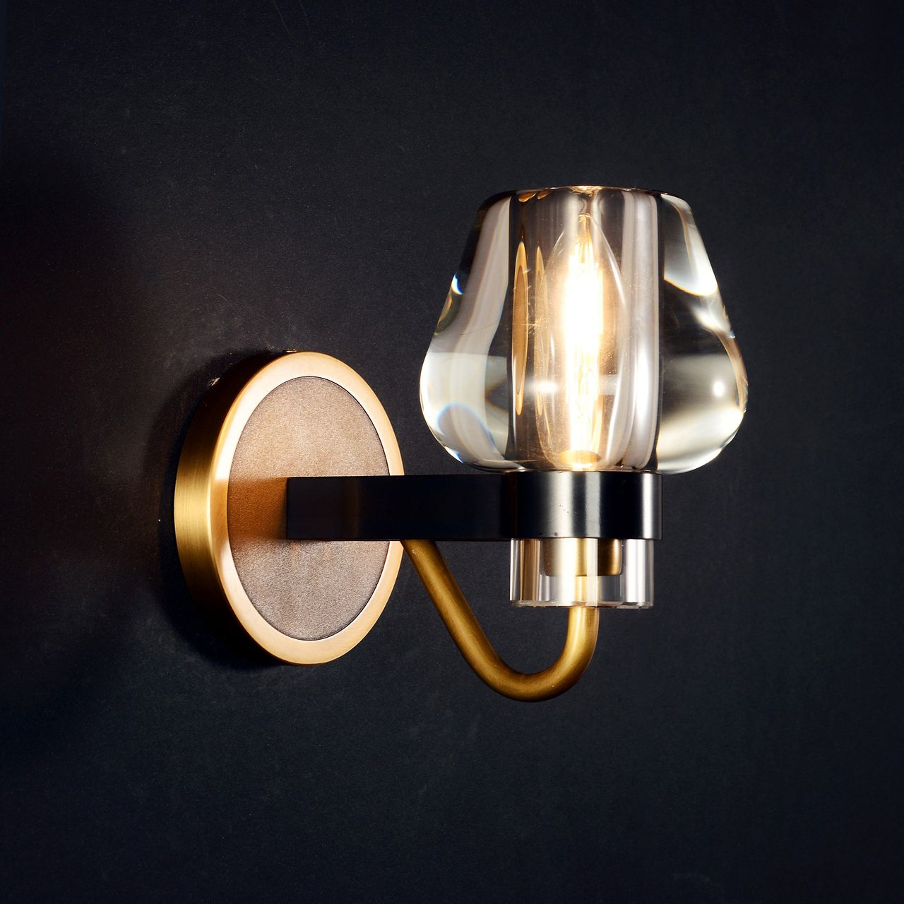 Mancini Sconce Brass Sconces Crystal Wall Sconces Crystal Wall Lighting