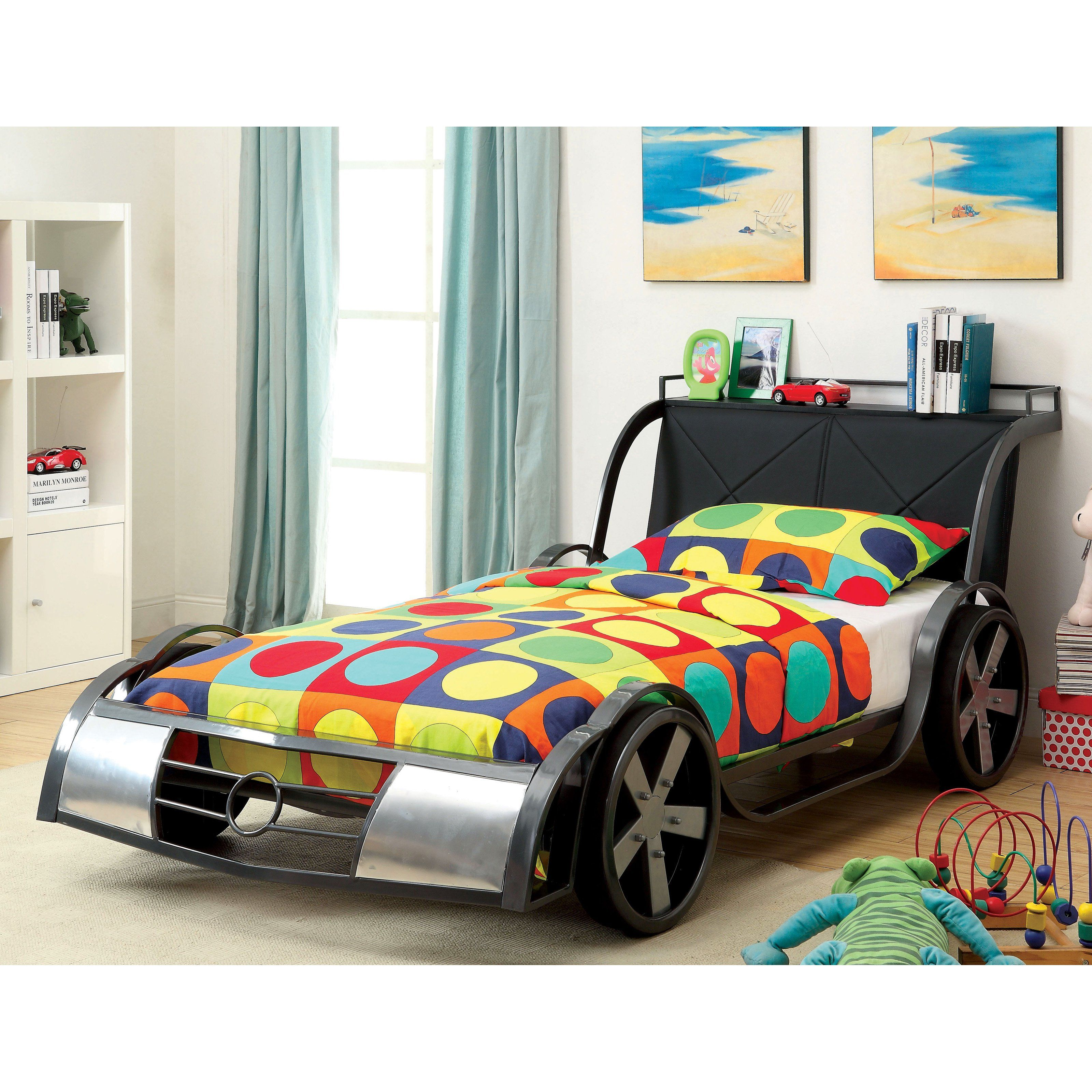 Furniture of America Indy Kid 500 Youth Racer Bed - Twin ...