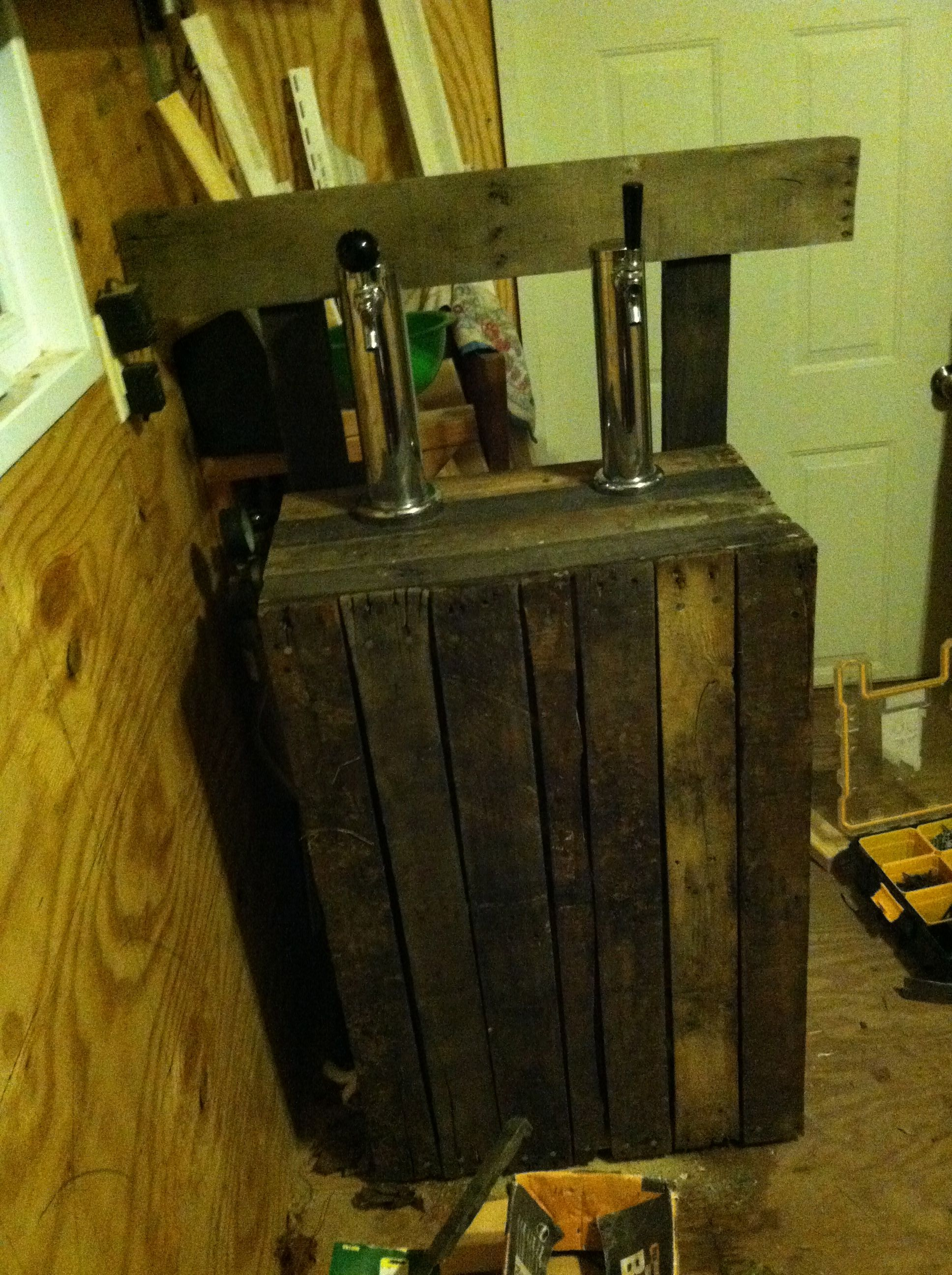 Kegerator update and first pallet wood project