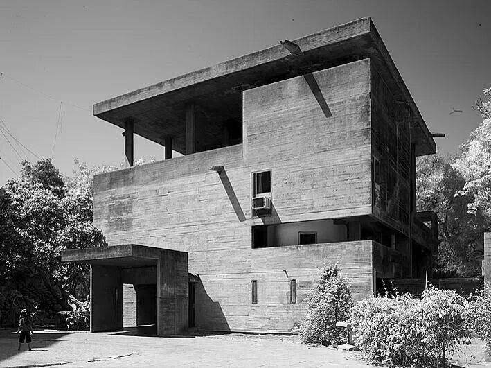 villa shodhan india le corbusier 1951 architecture pinterest architektur geb ude und bau. Black Bedroom Furniture Sets. Home Design Ideas