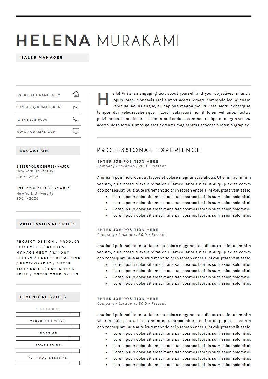 Elegant modern resume and cover letter template. | Resume ...