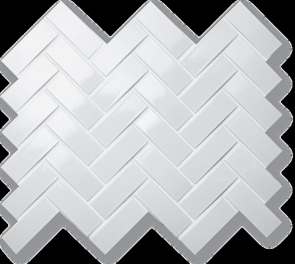arc 1x3 glossy white herringbone from