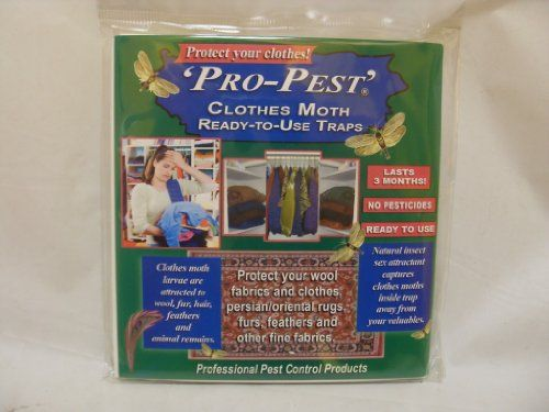 Pro Pest Clothes Moth Traps Ready To Use 1 Package Of 2 Traps Pro Pest Http Www Amazon Com Dp B002rt10vu Ref Cm Sw R Pi Dp 5dx2sb0 Insecticide Pests Moth