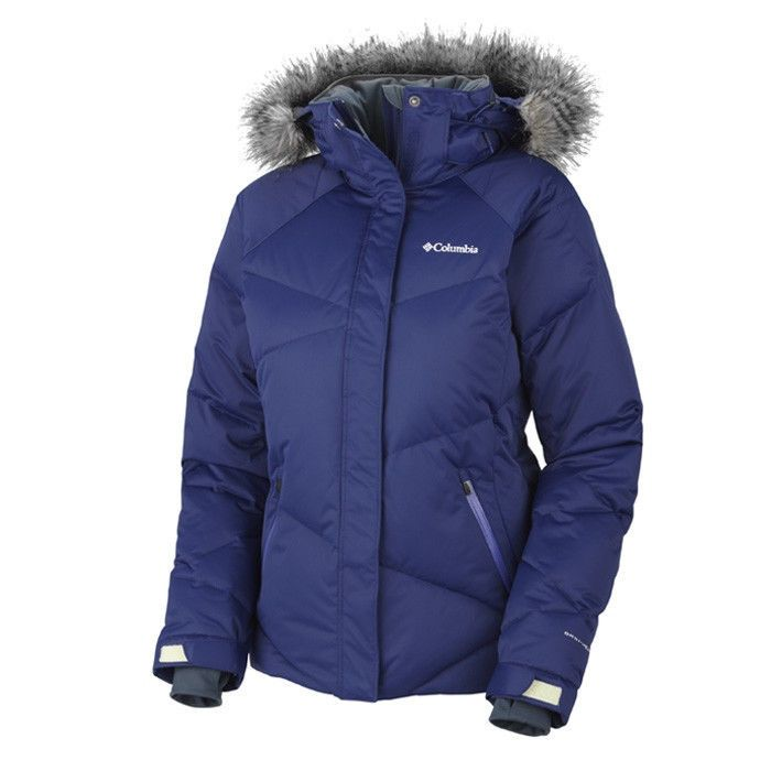 Columbia Womens Lay D Omni Heat Down Hooded Jacket Coat S