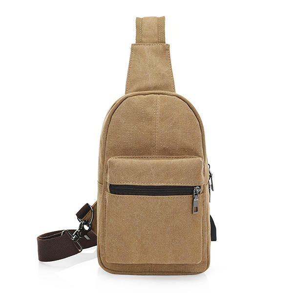 Men Canvas External USB Charging Function Crossbody Bag Leisure Retro Sports Che - US$22.54