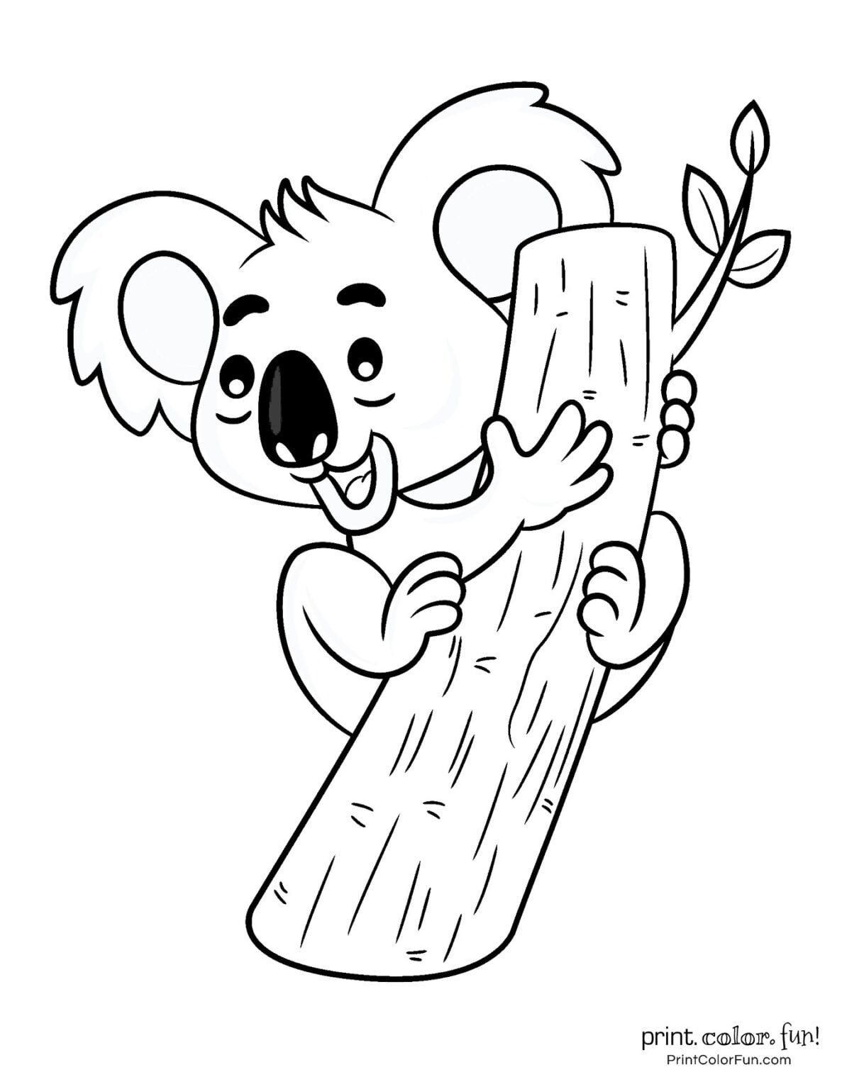 10 Free Cute Koala Coloring Pages Coloring Page Print Color Fun In 2020 Abc Coloring Pages Cute Coloring Pages Coloring Pages