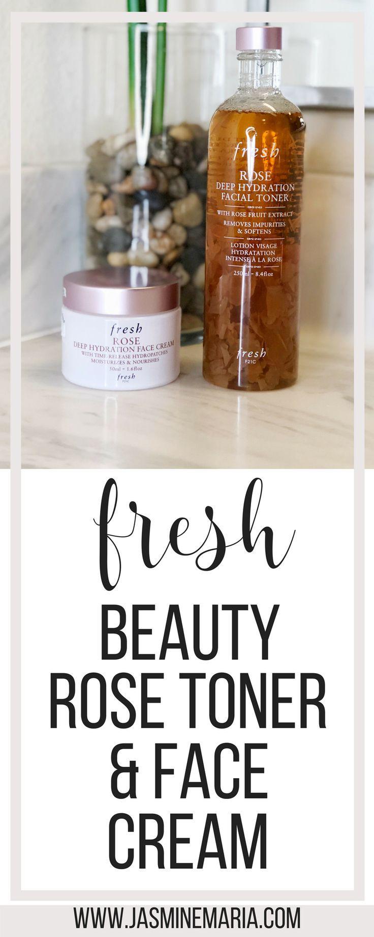 Photo of Fresh Beauty Rose Toner and Rose Face Cream – Jasmine Maria